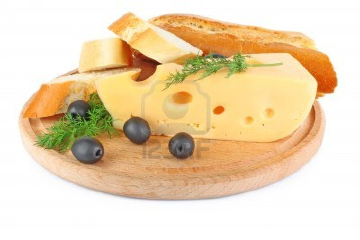 9548197-piece-of-cheese-bread-olive-and-greens-isolated-on-wooden-plate